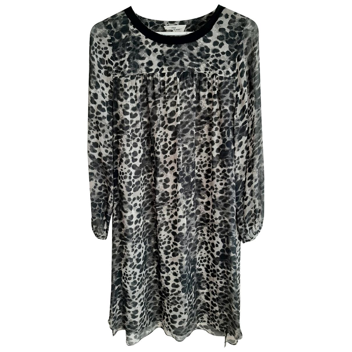 Isabel Marant Etoile \N Kleid in  Grau Seide