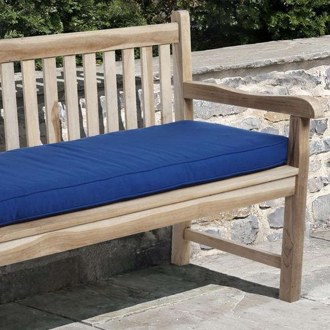 Clara Outdoor Blue Bench Cushion with Sunbrella (3