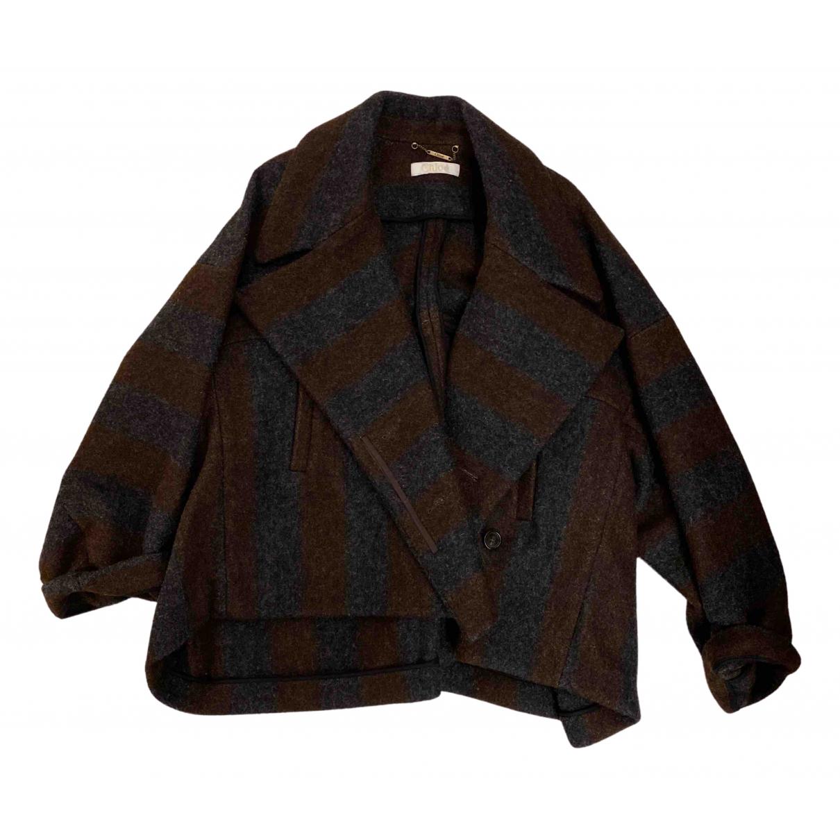 Chloe - Manteau   pour femme en laine - multicolore