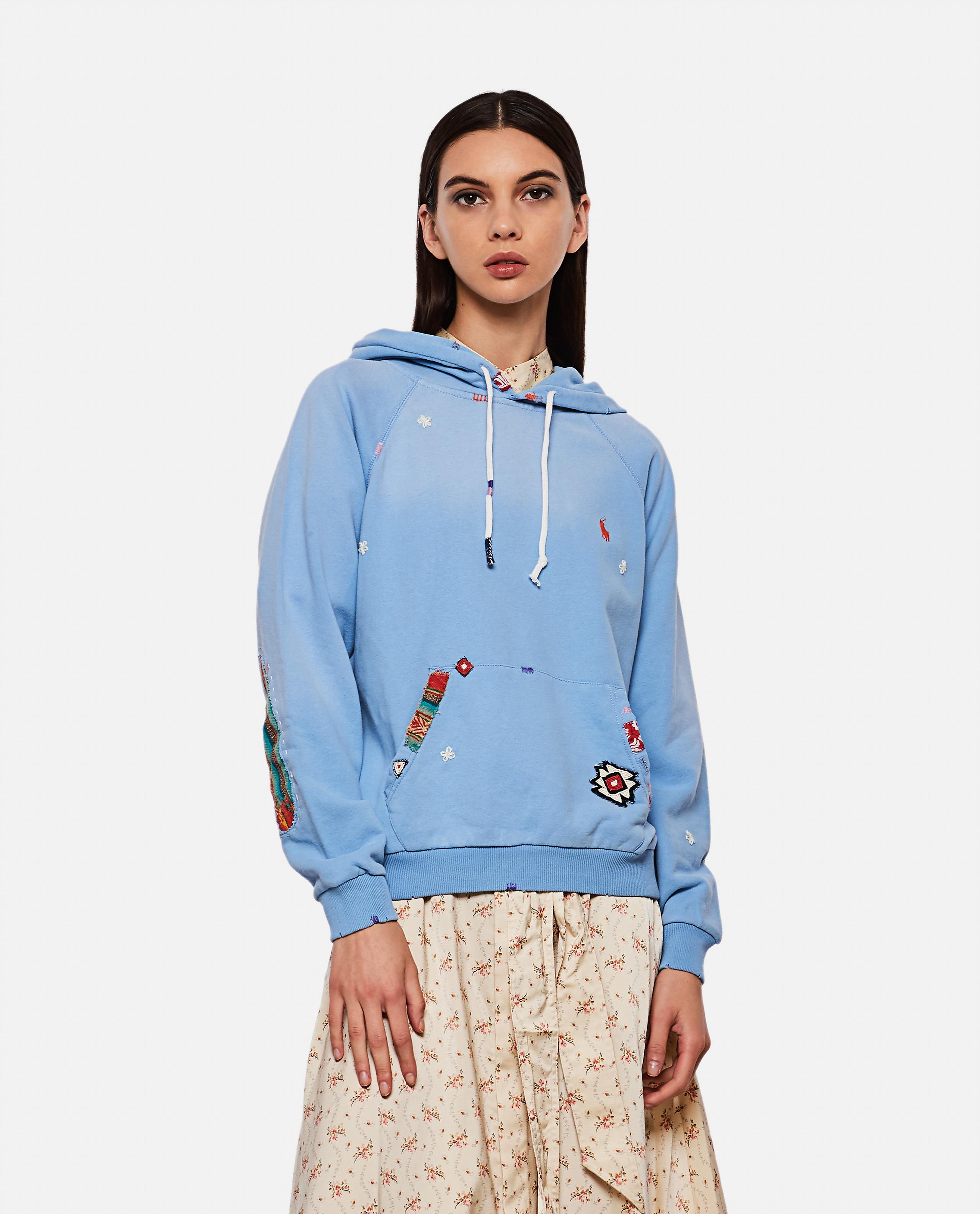 Sweatshirt with patchwork design