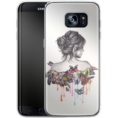 Samsung Galaxy S7 Edge Silikon Handyhuelle - Butterfly Effect von Kate Powell