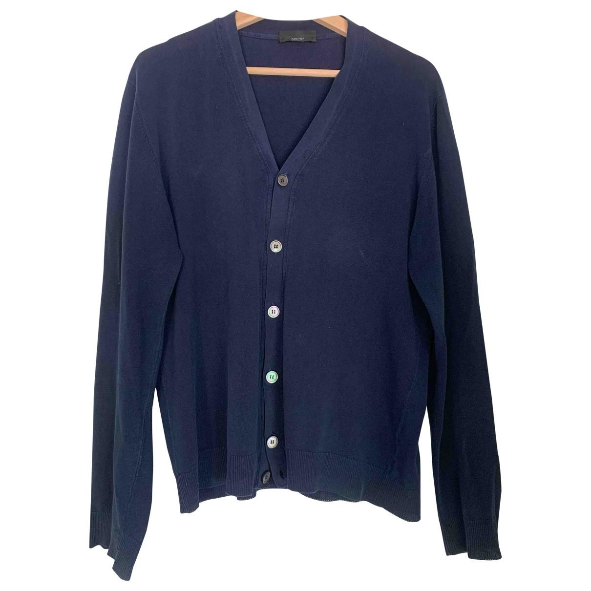 Zanone \N Pullover.Westen.Sweatshirts  in  Blau Baumwolle
