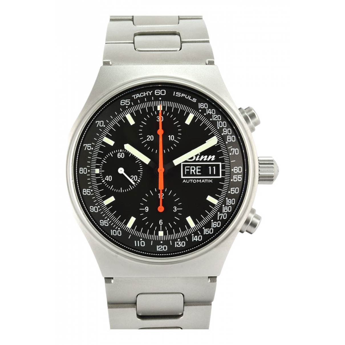 Non Signé / Unsigned \N Black Steel watch for Men \N