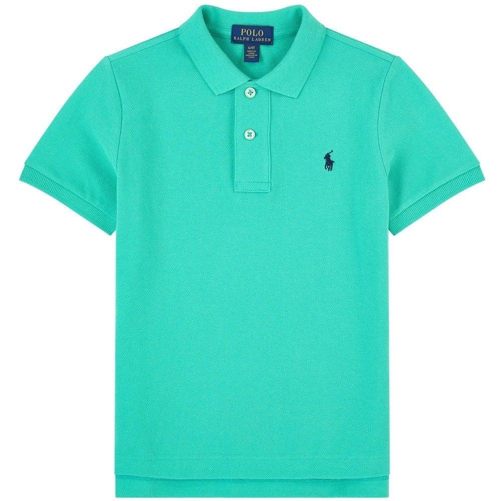 Ralph Lauren Kids Logo Polo Shirt Green Colour: GREEN, Size: 8 YEARS