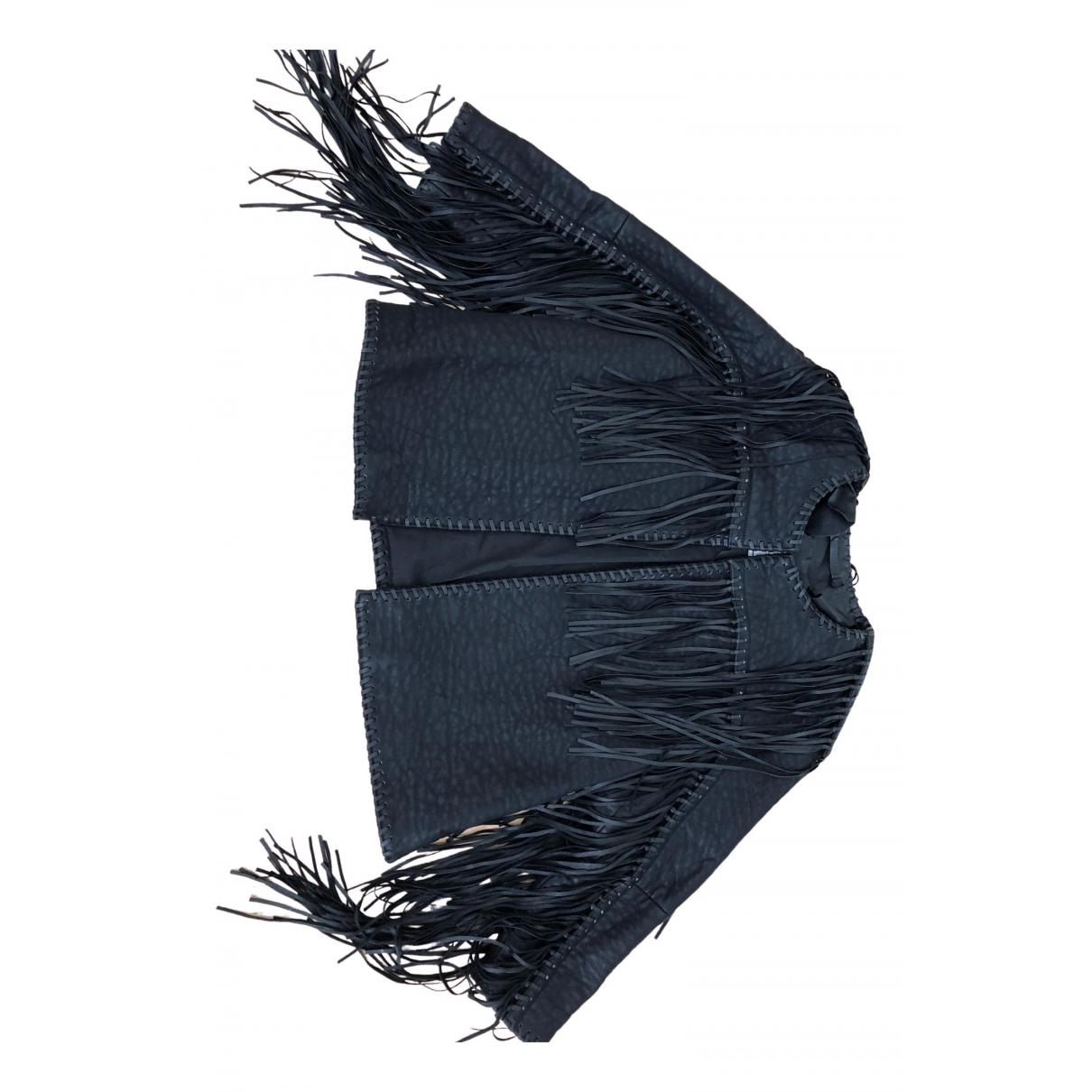 By Malene Birger - Blouson   pour femme en cuir - noir