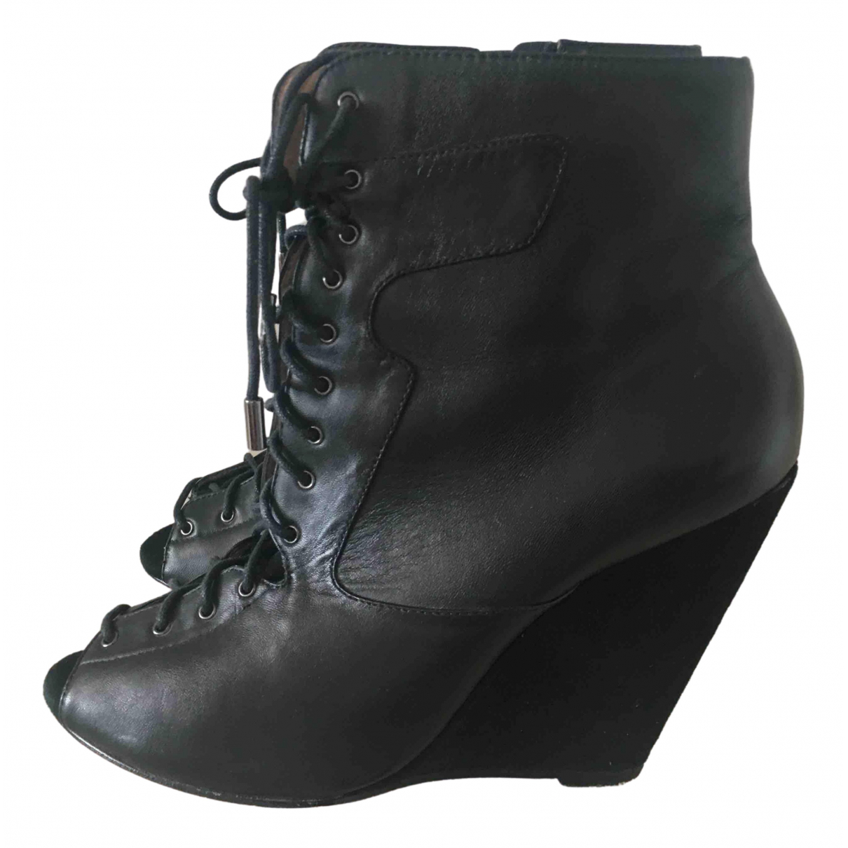 Reiss \N Black Leather Ankle boots for Women 41 EU