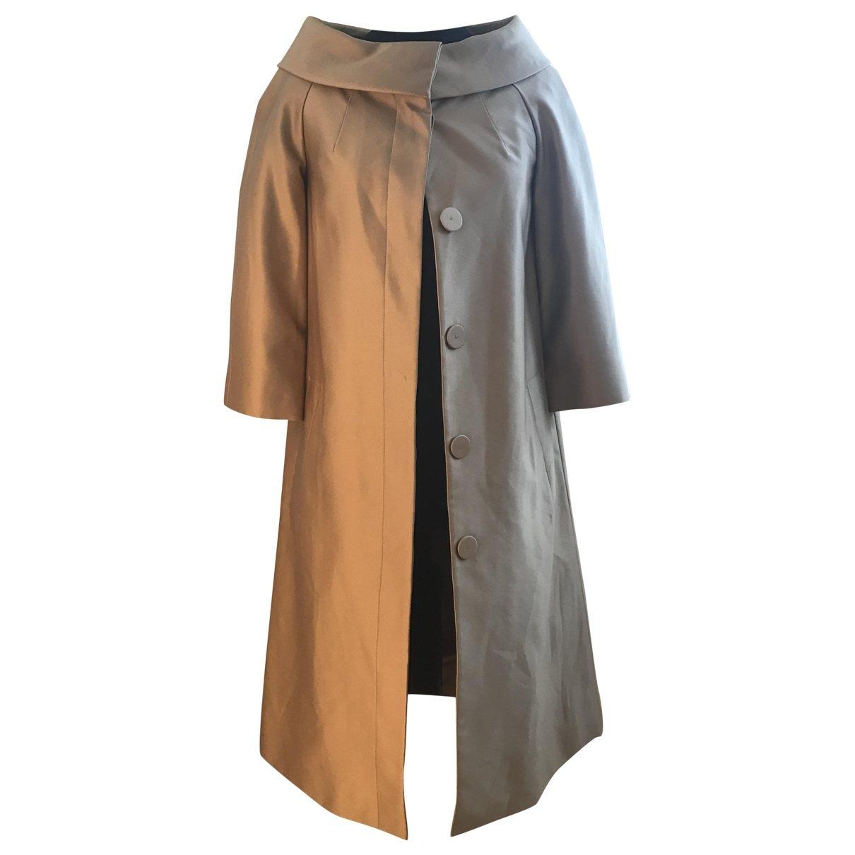 Lk Bennett - Manteau   pour femme en soie - dore