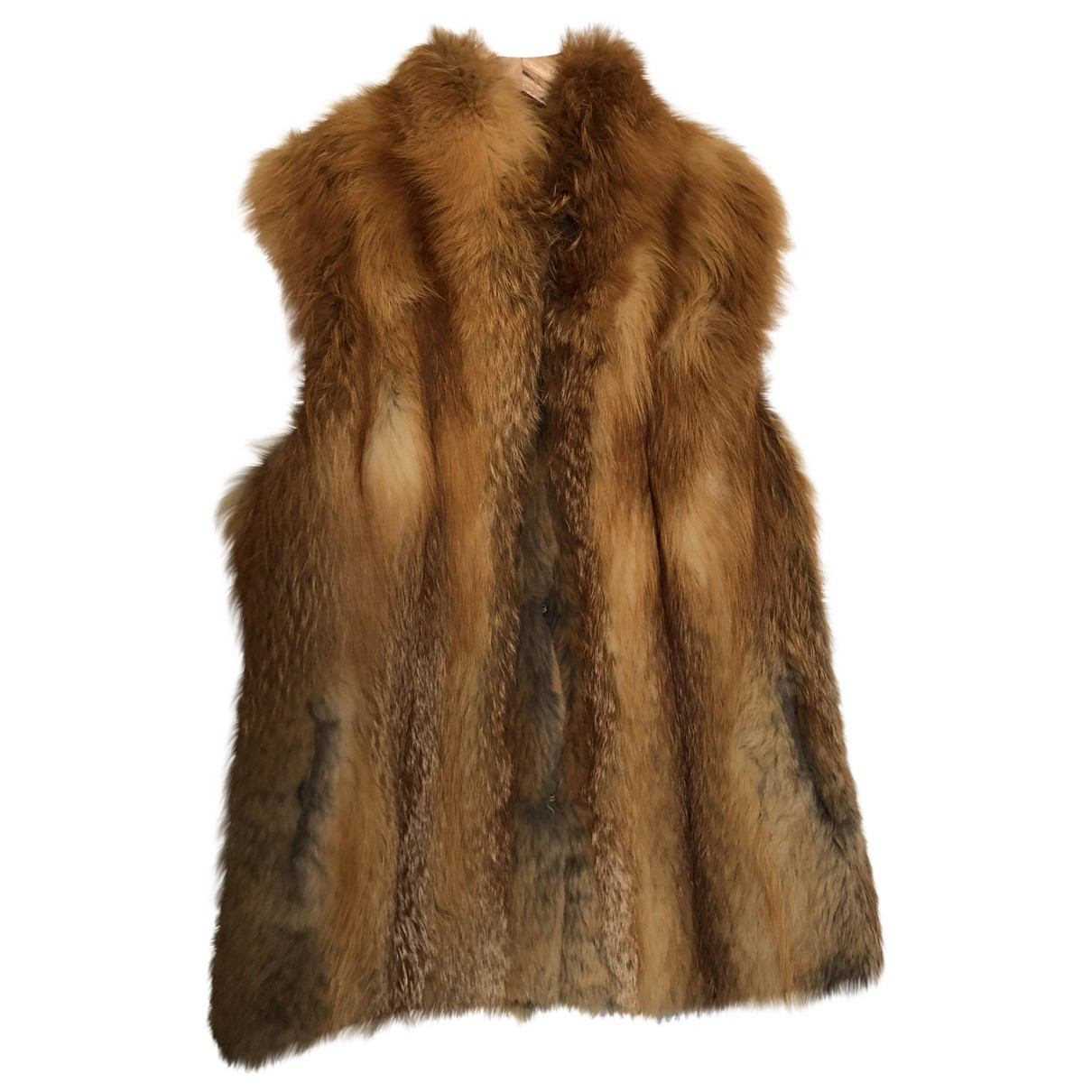 Non Signé / Unsigned \N Red Fox coat for Women 10 UK