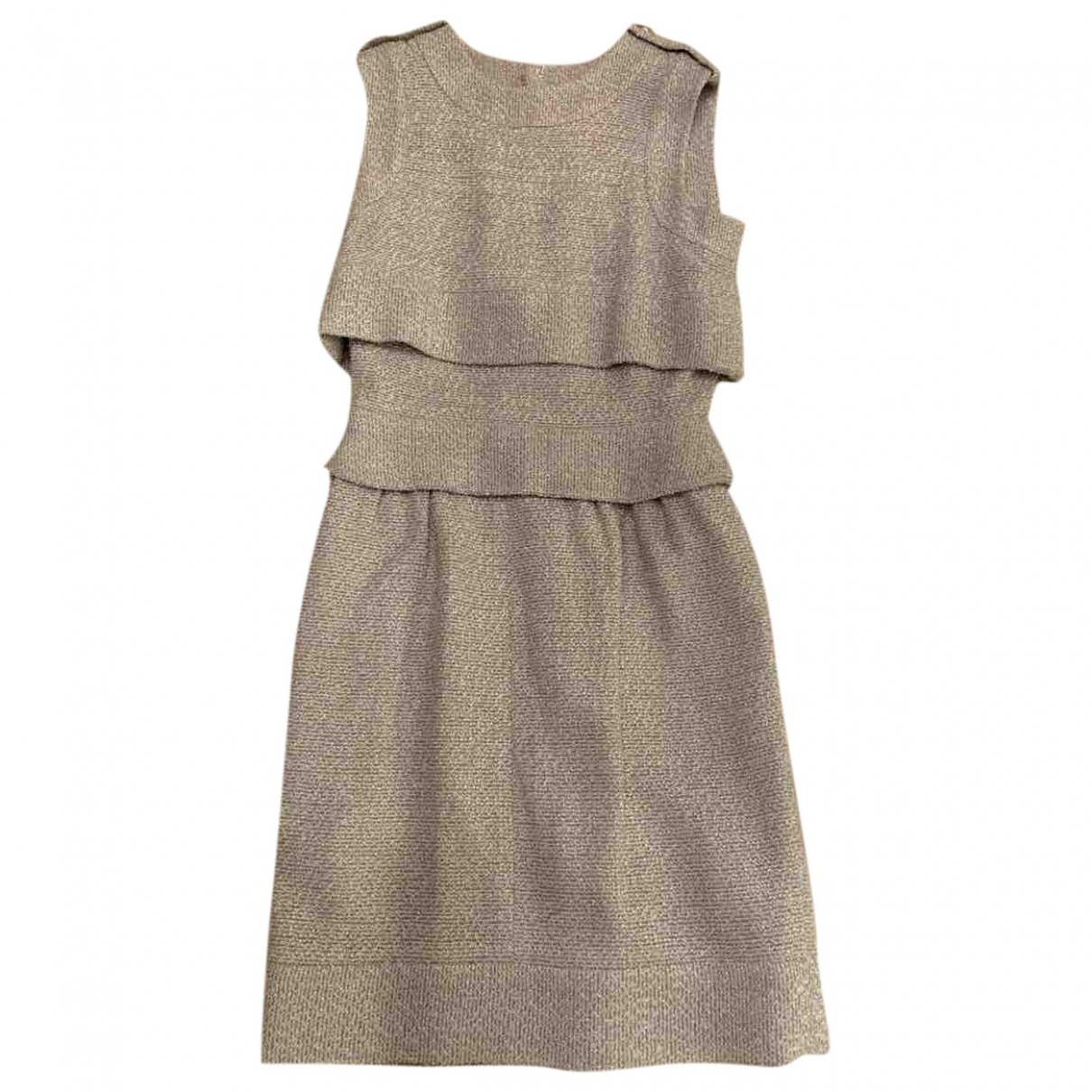 Chanel \N Kleid in  Grau Viskose