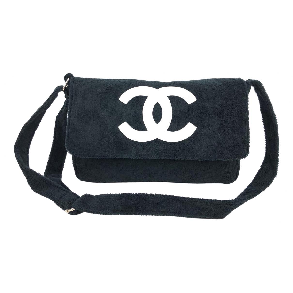 Chanel \N Handtasche in  Marine Leinen