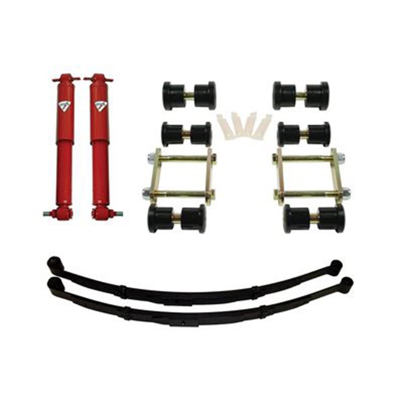 Detroit Speed 41633 Rear Speed Kit 1 Suspension Kit 2 Inch Drop Multi-Leaf 68-74 X-Body
