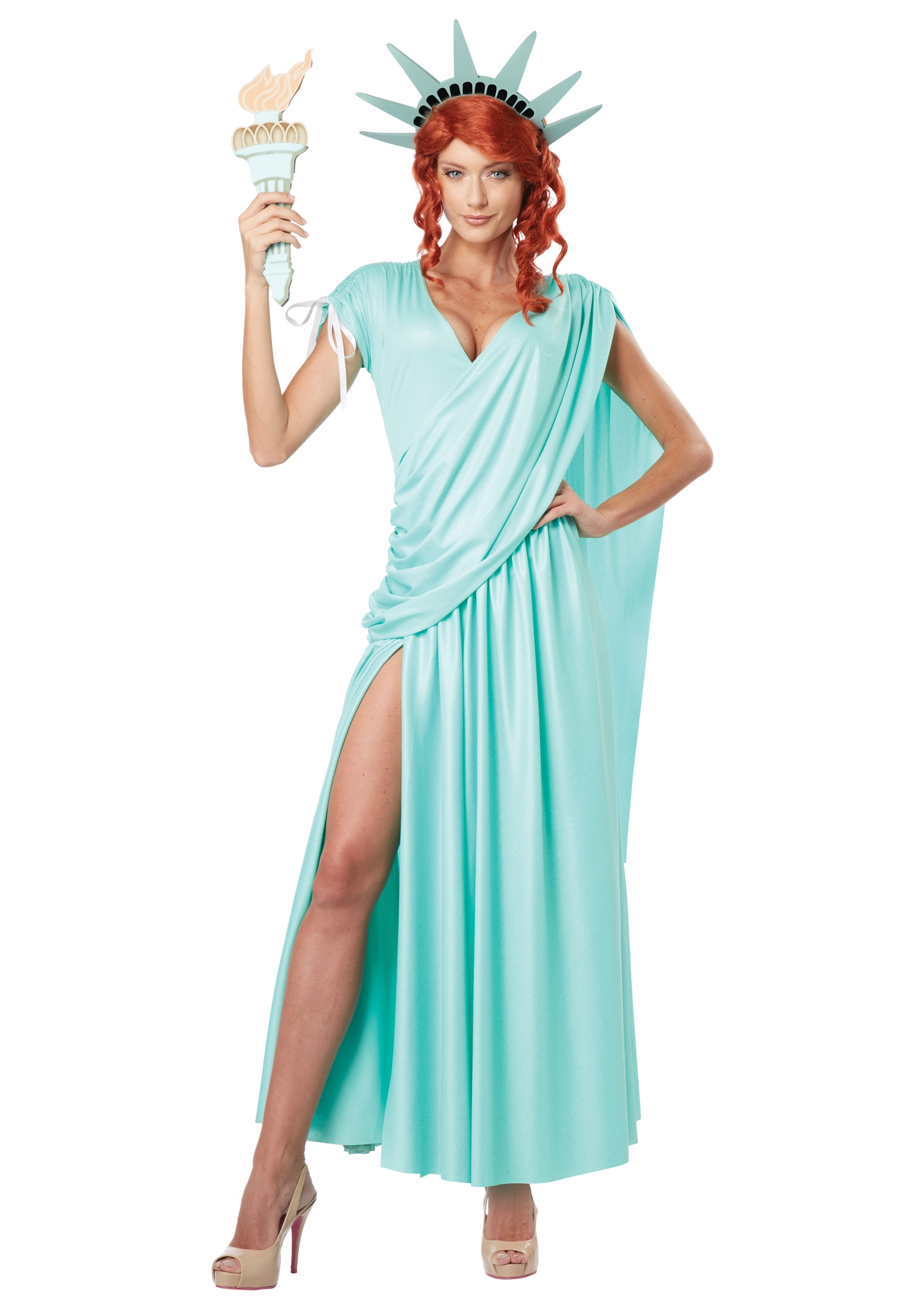 Womens Lady Liberty Costume | Patriotic Outfits