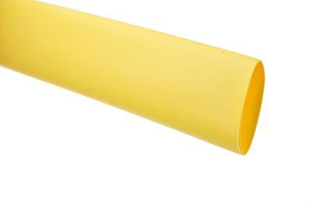 TE Connectivity Heat Shrink Tubing, Yellow 9mm Sleeve Dia. x 1.2m Length 3:1 Ratio, RNF-3000 Series