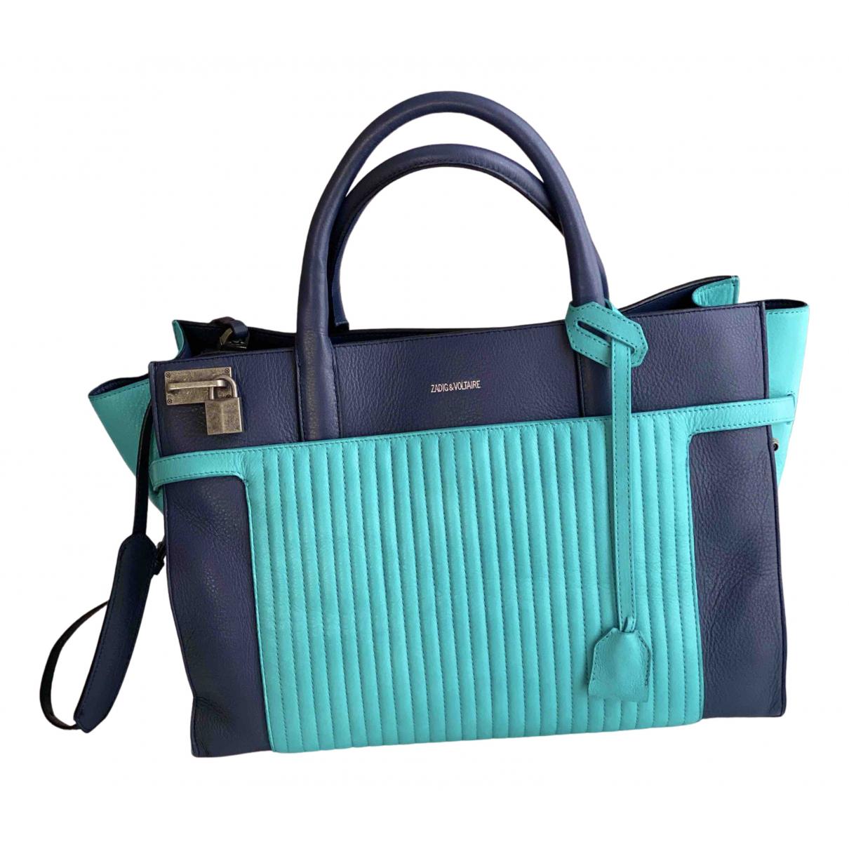Zadig & Voltaire Candide Blue Leather handbag for Women N