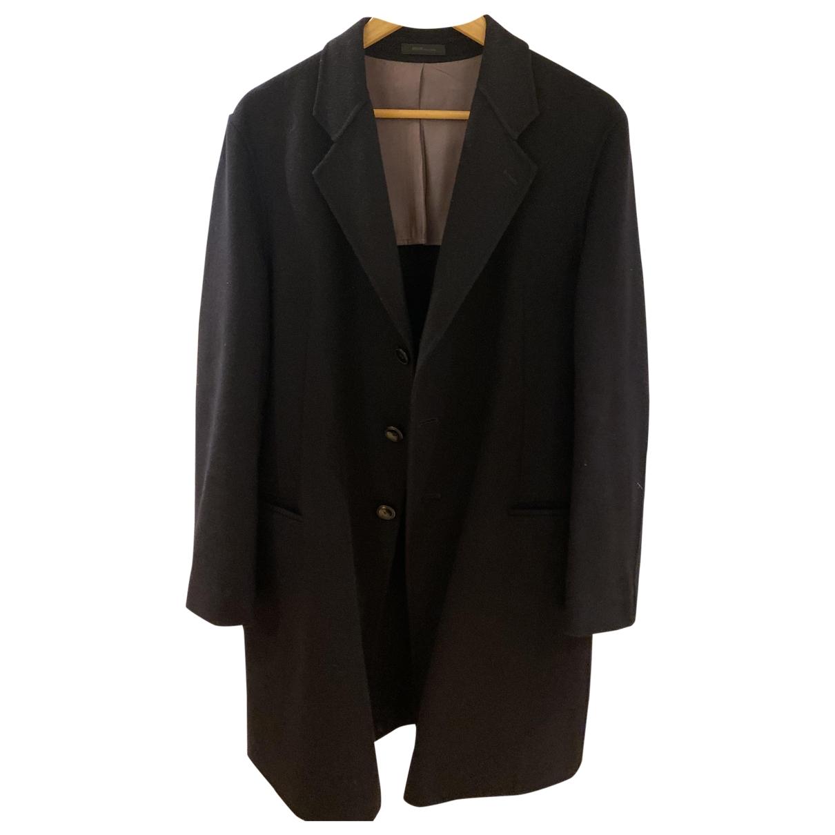 Armani Collezioni \N Navy Wool coat  for Men 48 IT