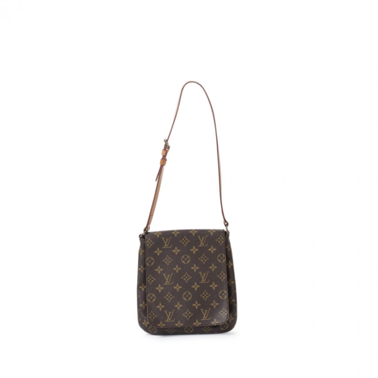 Louis Vuitton Musette Handtasche in  Braun Baumwolle