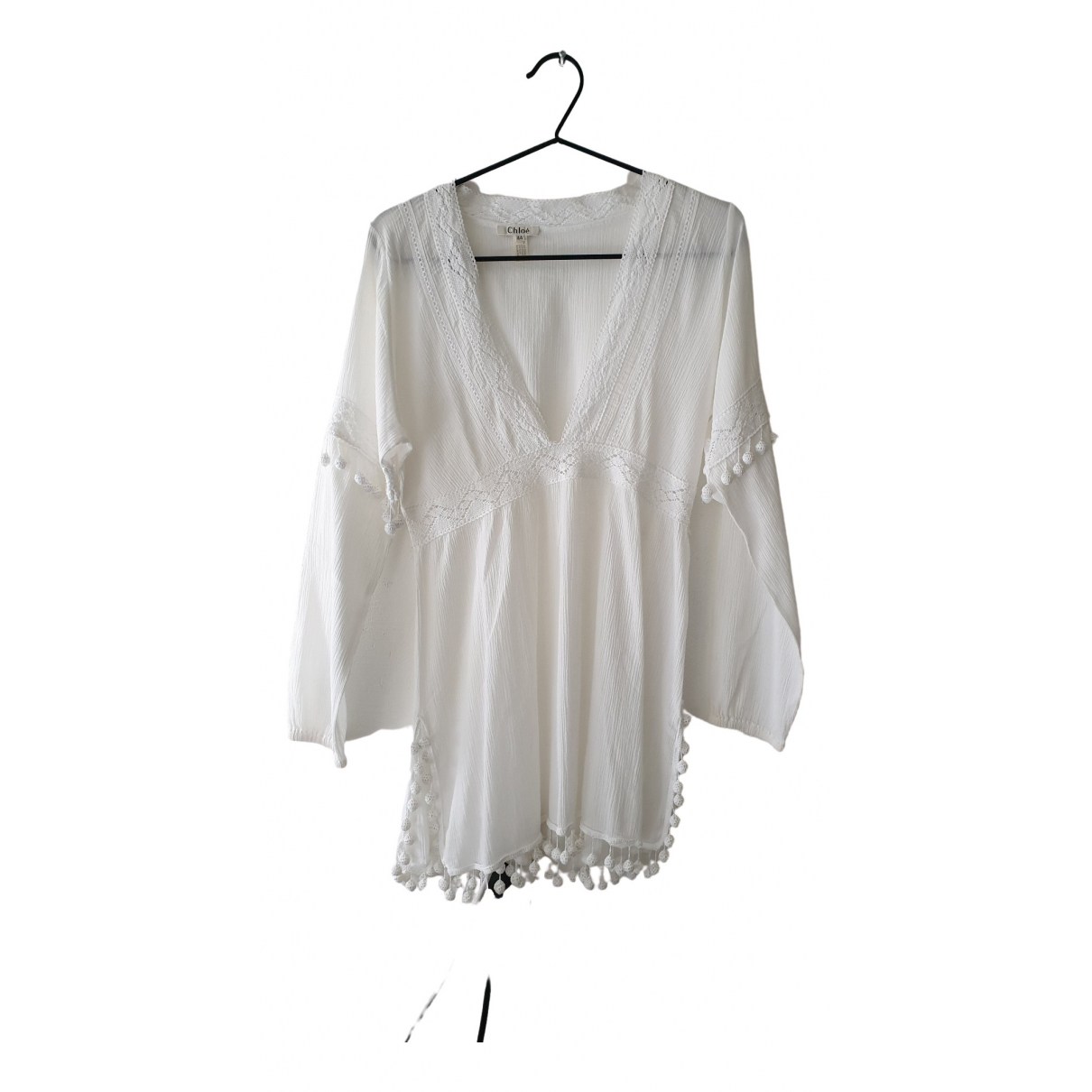 Chloé \N White Cotton dress for Women 44 IT