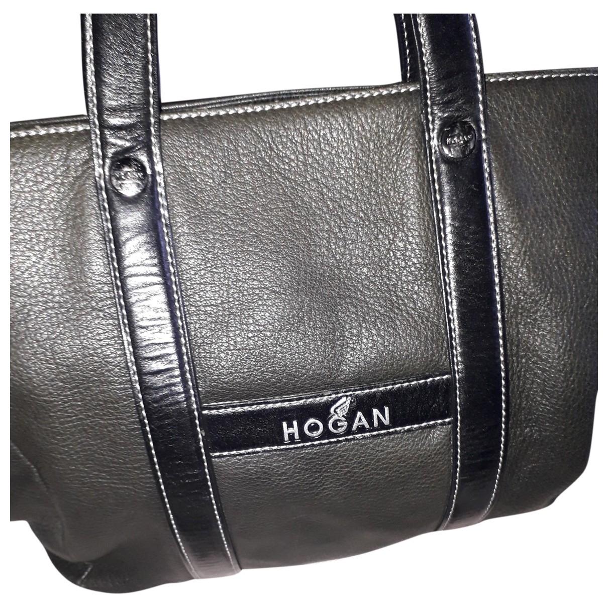 Hogan \N Handtasche in  Schwarz Leder