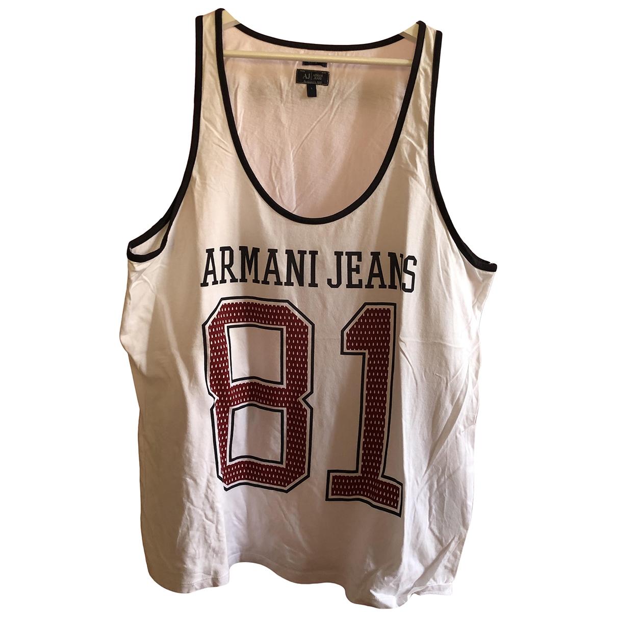 Armani Jean - Tee shirts   pour homme en coton - blanc