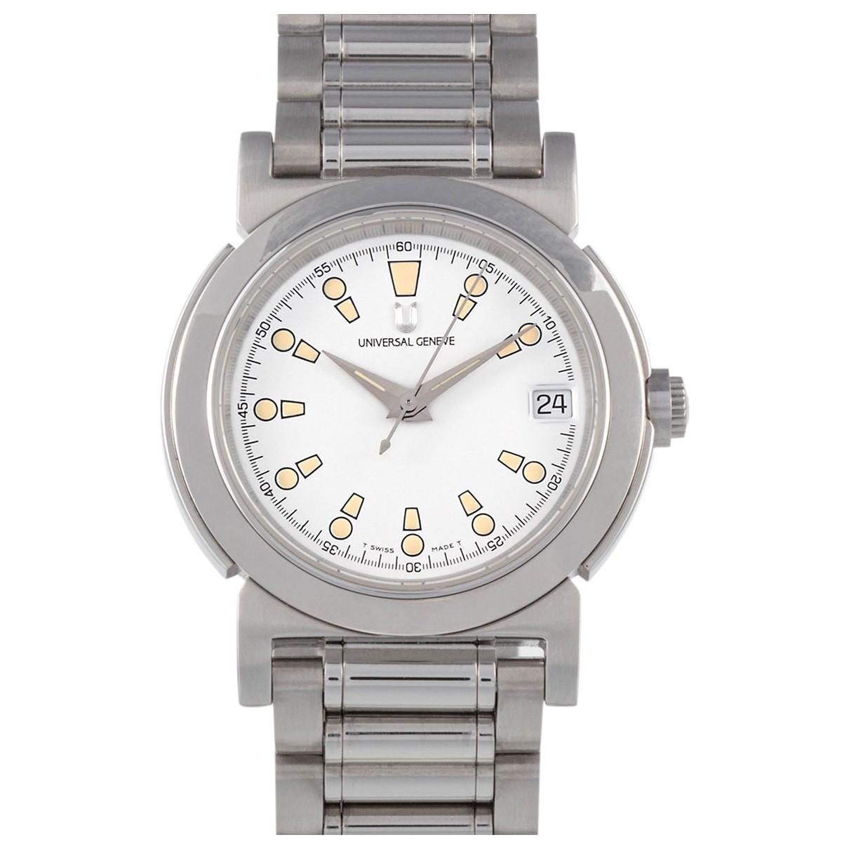 Universal Geneve \N Uhr in  Silber Stahl
