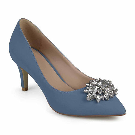 Journee Collection Womens Kitt Pumps Stiletto Heel, 9 Medium, Blue