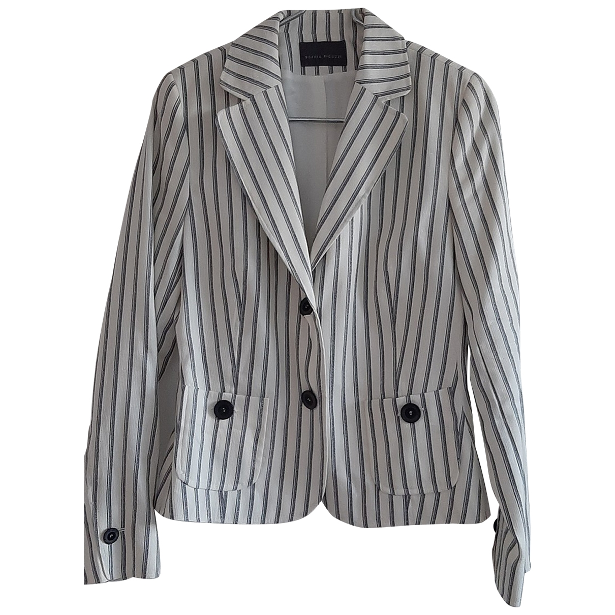 Non Signé / Unsigned \N Grey Linen jacket for Women 40 FR
