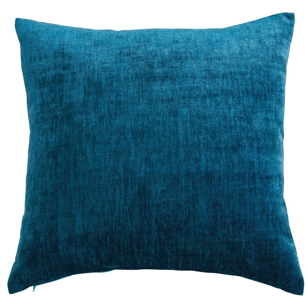 Kissen aus blaugruenem Samt 60x60