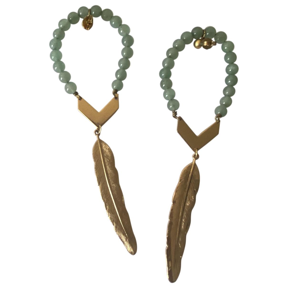 Ela Stone - Boucles doreilles   pour femme en metal - vert