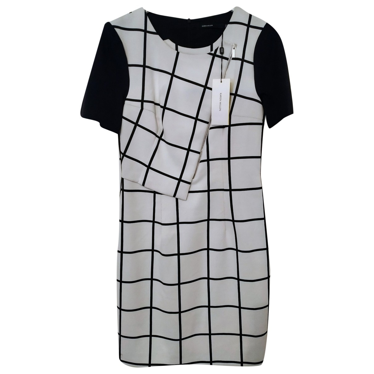 Karen Millen \N Kleid in  Weiss Baumwolle - Elasthan