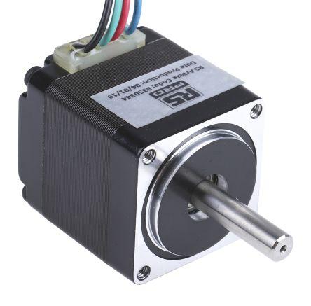 RS PRO Hybrid, Permanent Magnet Stepper Motor 1.8°, 60mNm, 3.8 V, 670 mA, 4 Wires