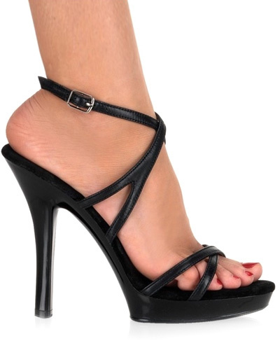 Milanoo Sandalias cruzadas de color negro de estilo sexy