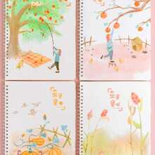 1pack Cartoon Graphic Cover Spiral Notebook