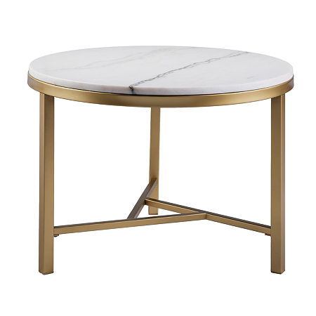 Framphis Faux Marble Accent Table, One Size , Yellow