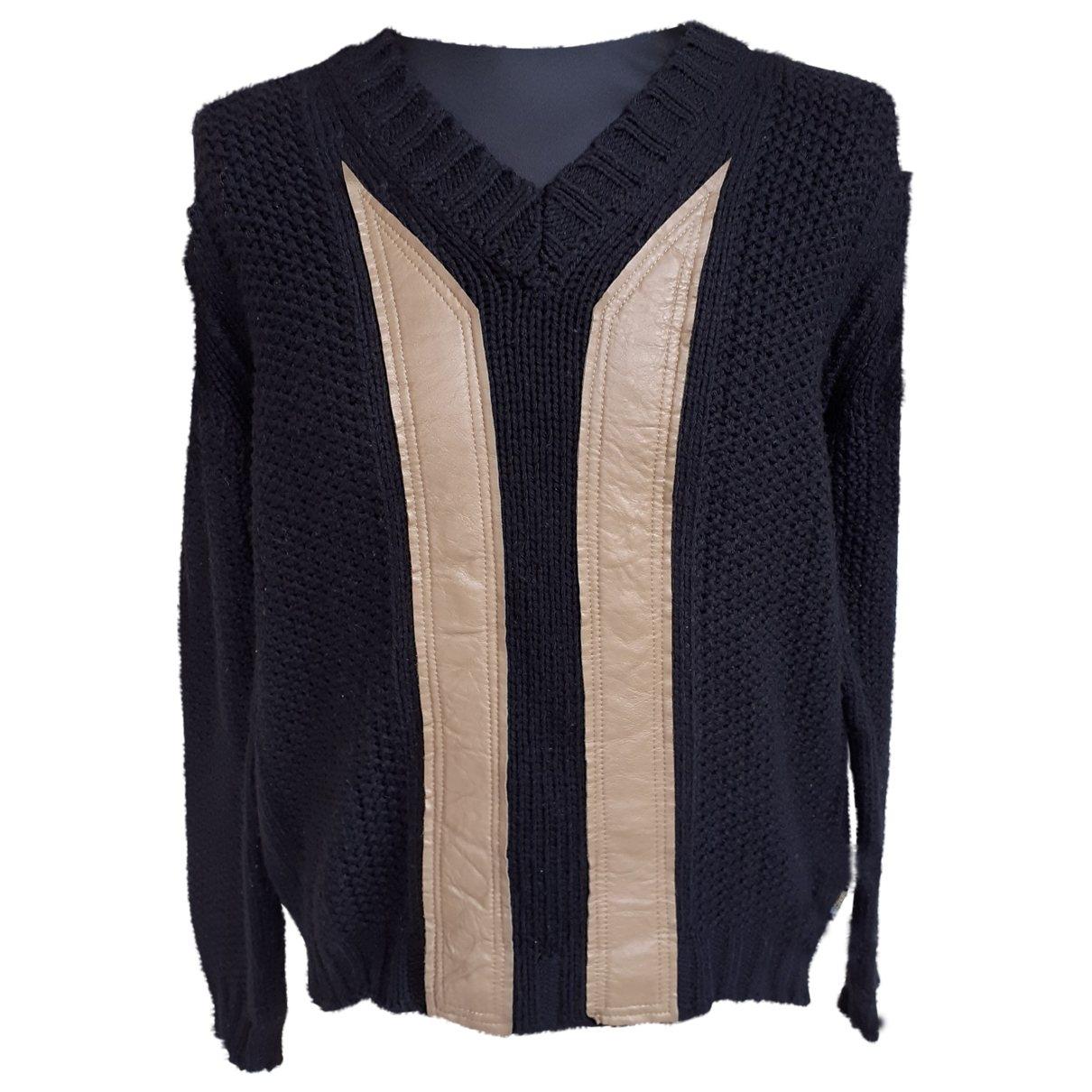 Just Cavalli \N Pullover.Westen.Sweatshirts  in  Blau Wolle