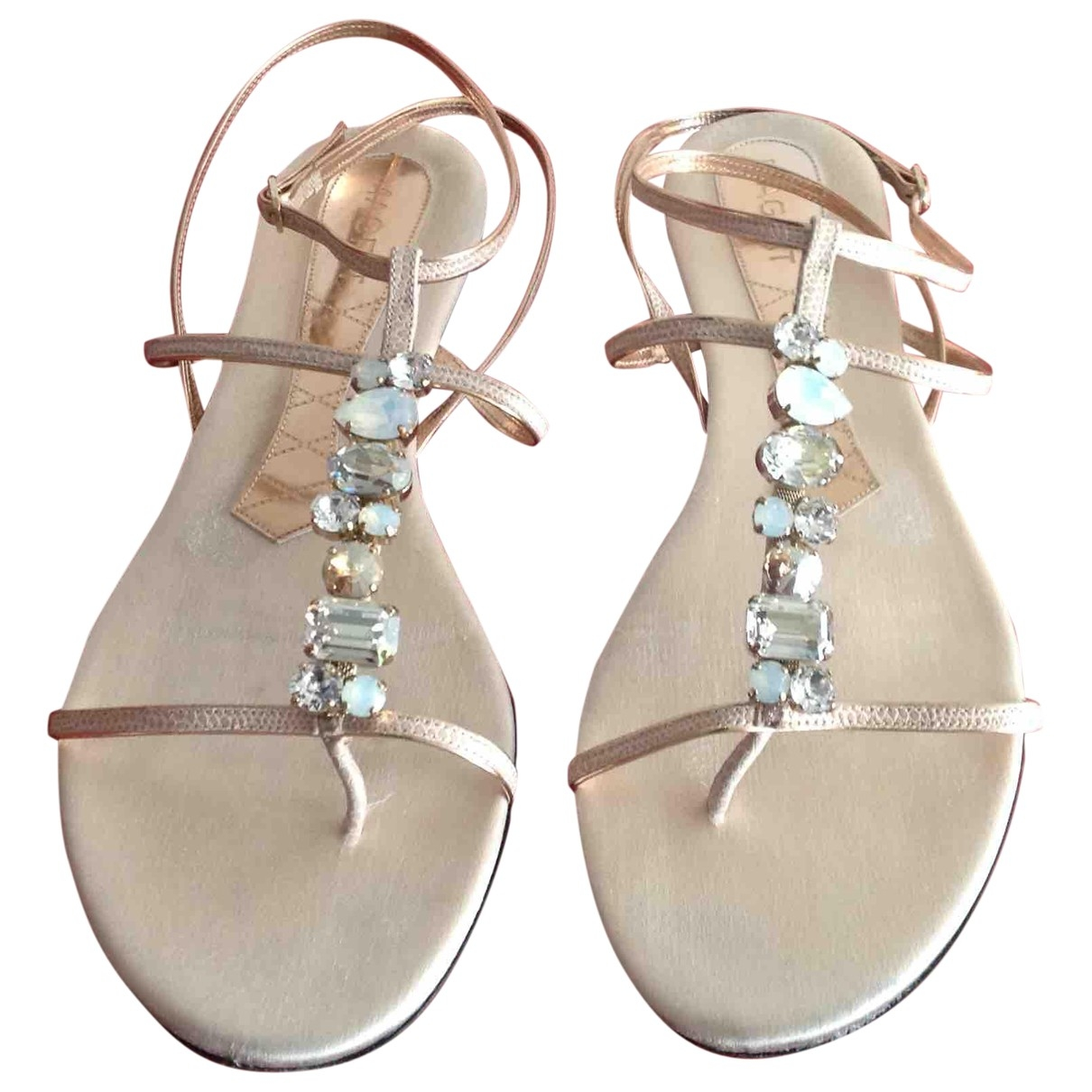 Non Signé / Unsigned \N Ecru Leather Sandals for Women 39 EU