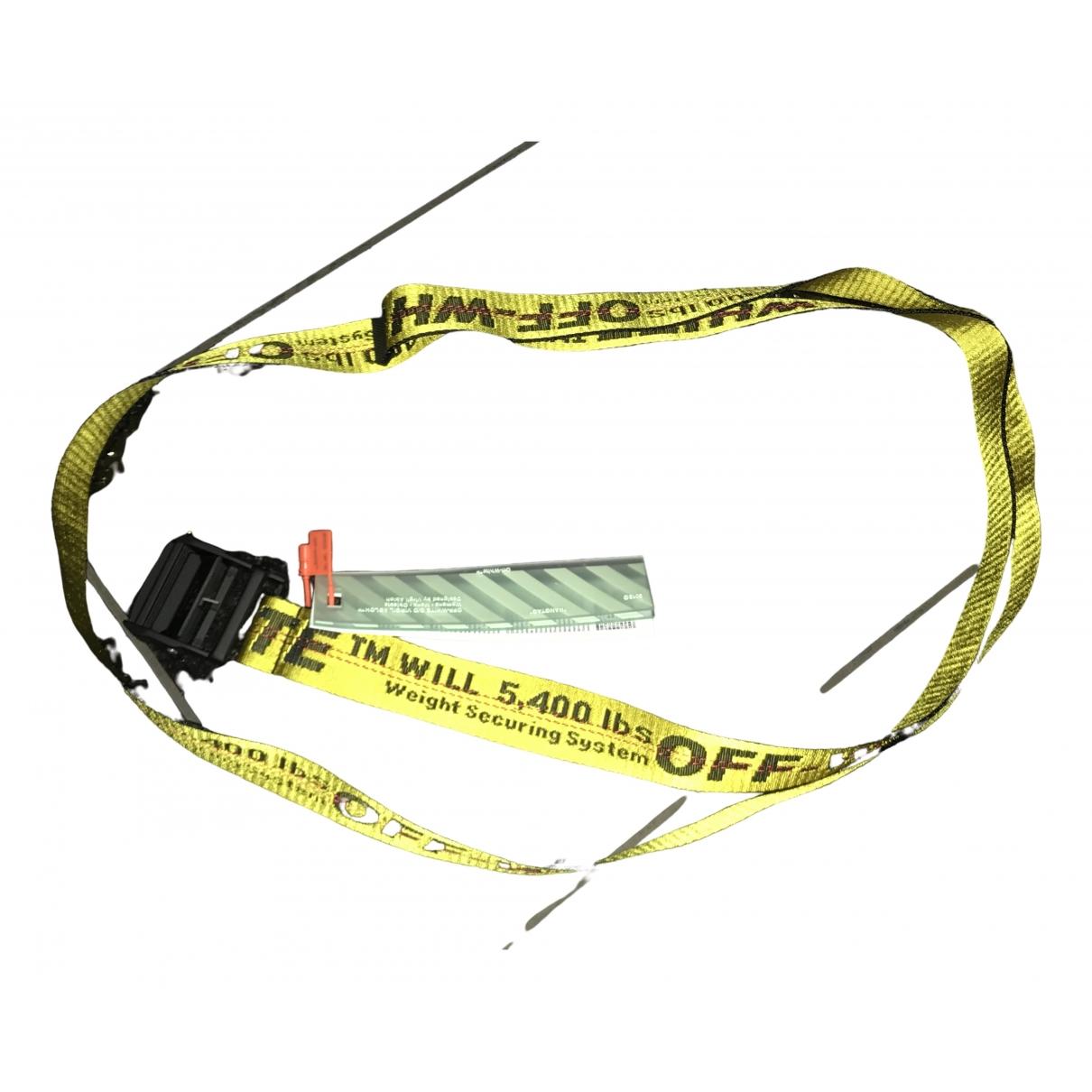 Off-white \N Yellow belt for Women L International