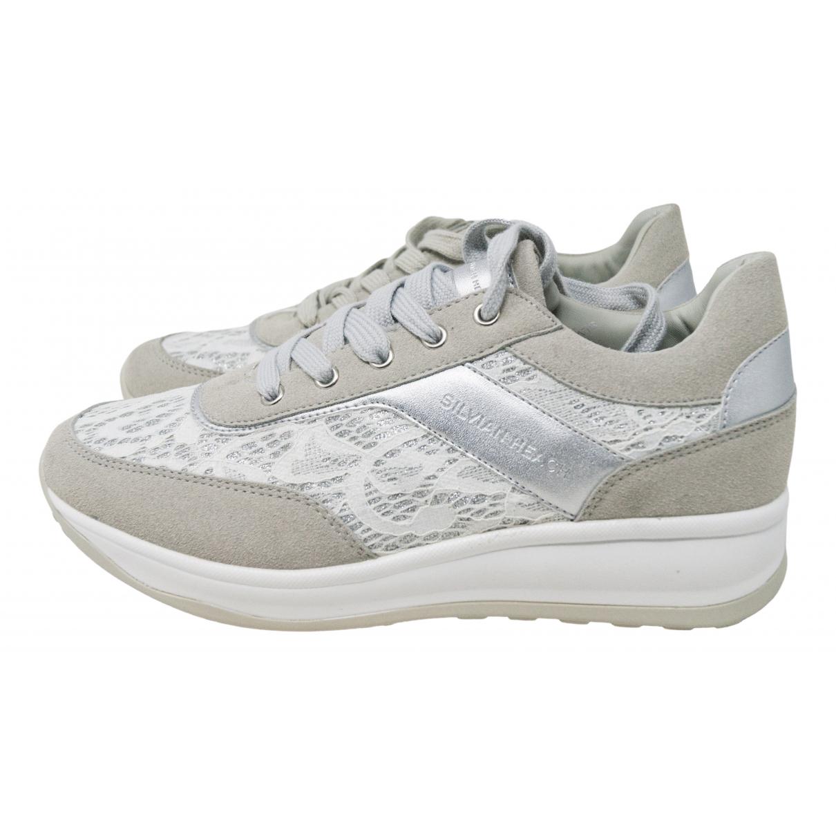 Silvian Heach \N White Cloth Trainers for Women 37 IT