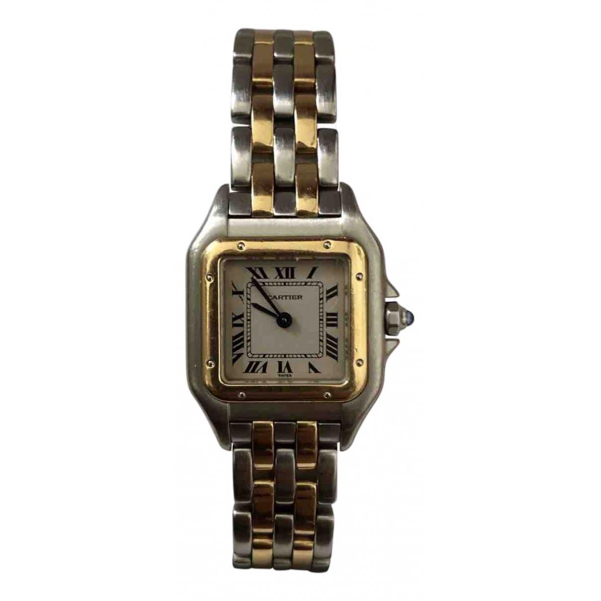 Cartier Panthere Uhr in  Grau Gold und Stahl