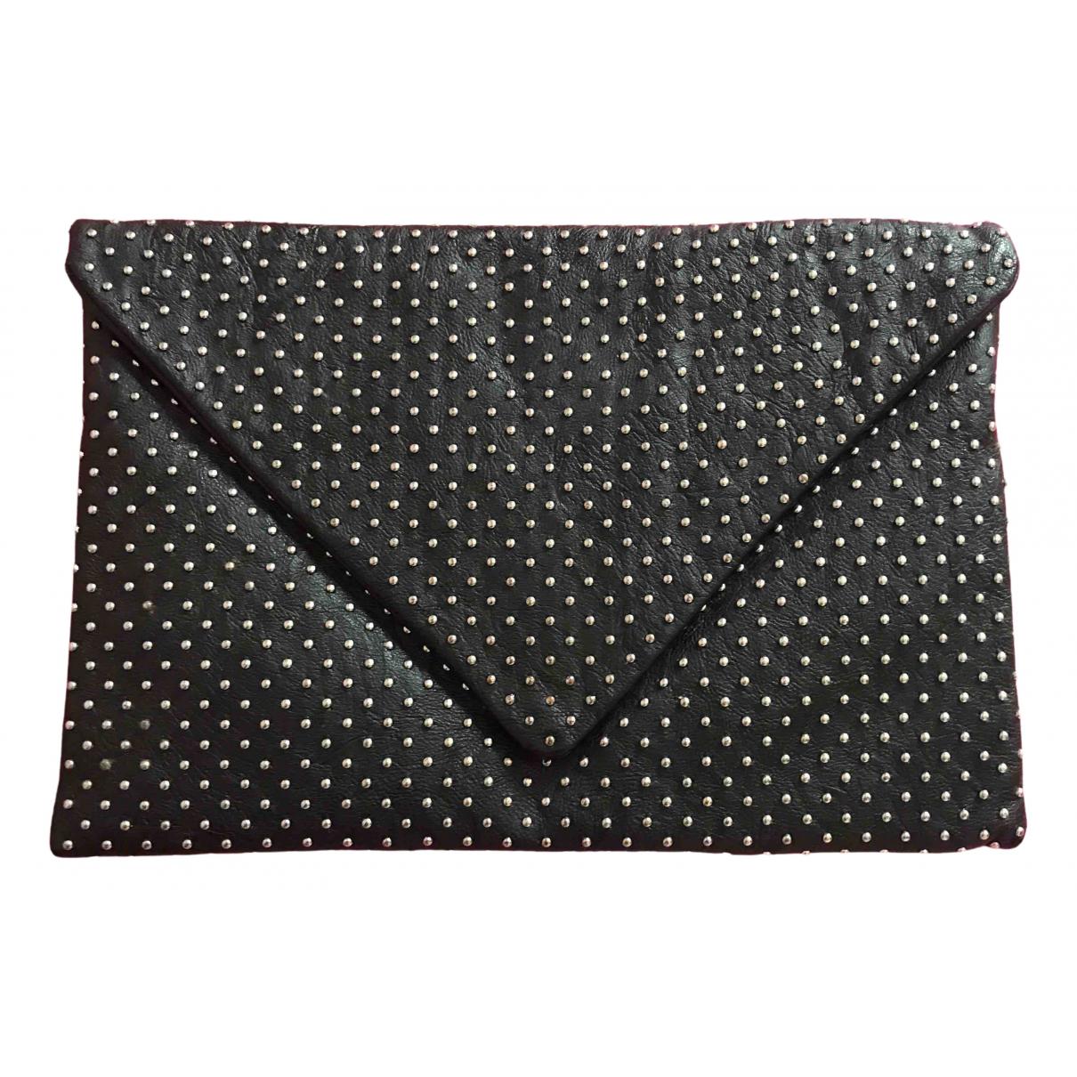 Zara - Pochette   pour femme en cuir - noir