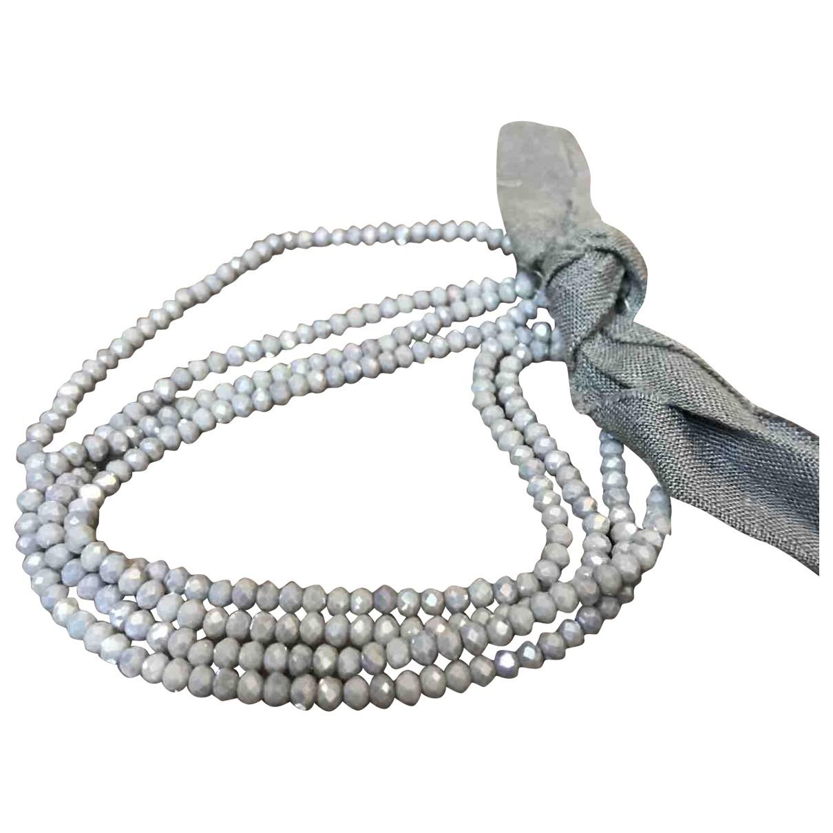 - Collier   pour femme en cristal - gris