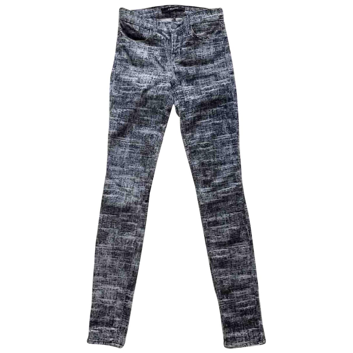 J Brand \N Jeans in  Grau Baumwolle - Elasthan