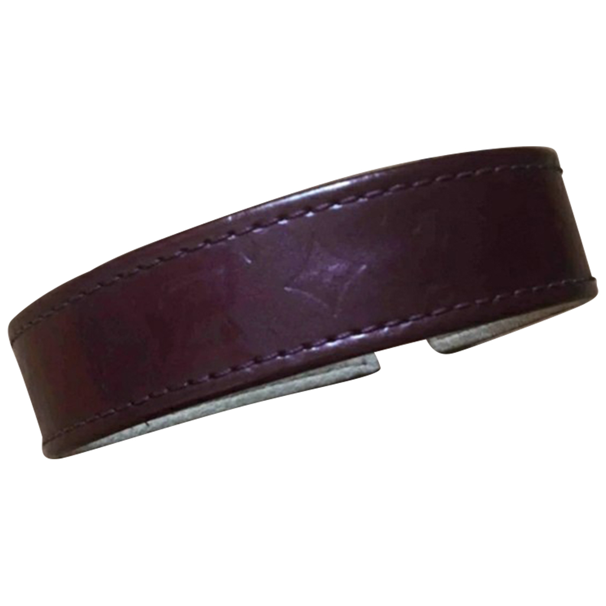Louis Vuitton Monogram Armband in  Bordeauxrot Lackleder