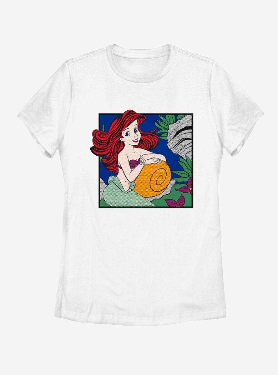 Disney The Little Mermaid Comic Ariel Womens T-Shirt