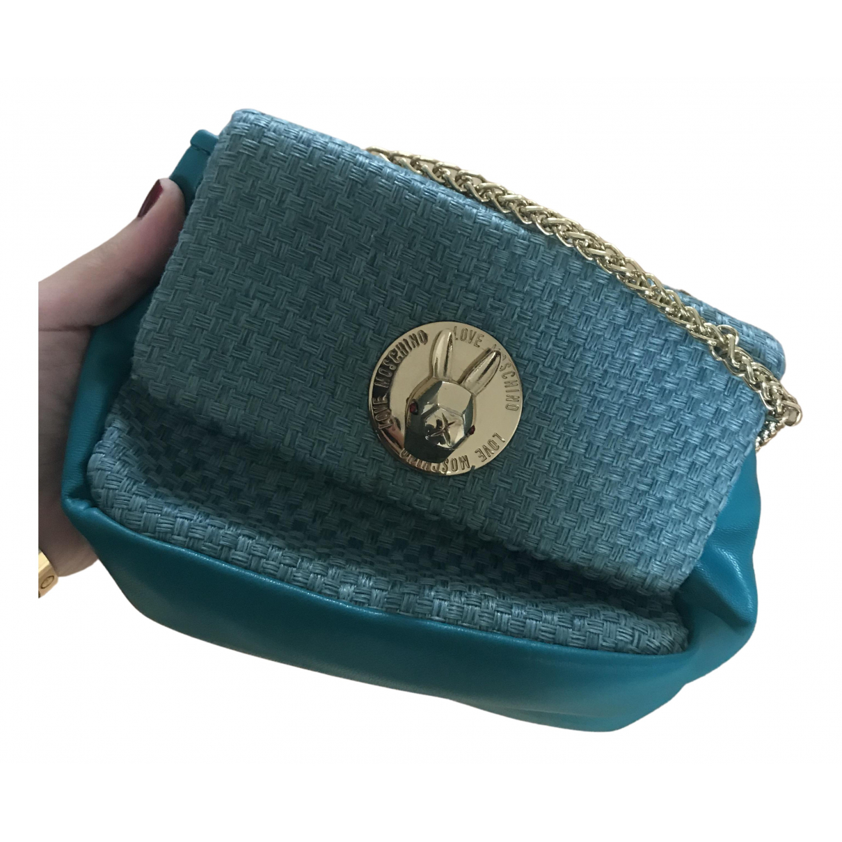 Moschino Love \N Turquoise Tweed handbag for Women \N