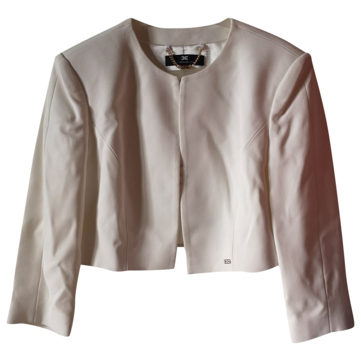 Elisabetta Franchi \N White jacket for Women 44 IT