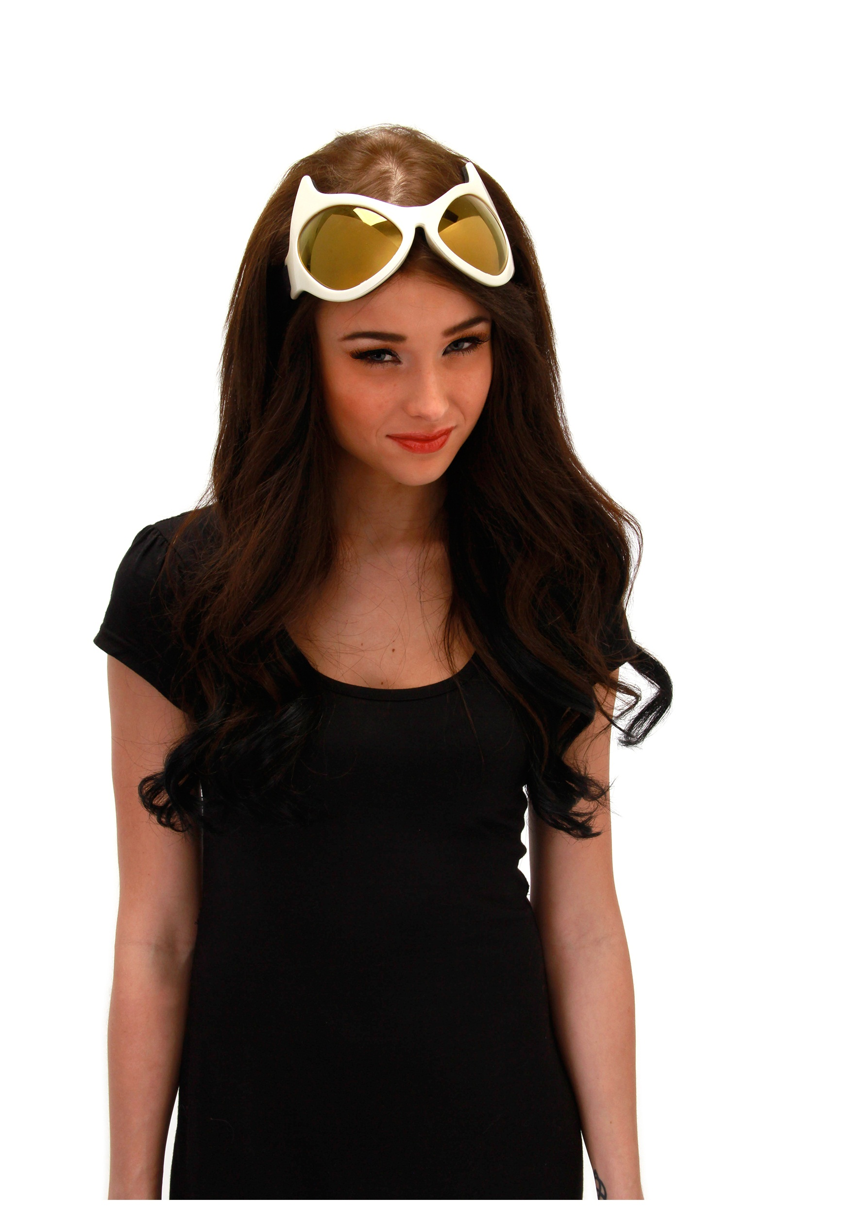 White and Gold Cat Eye Goggles