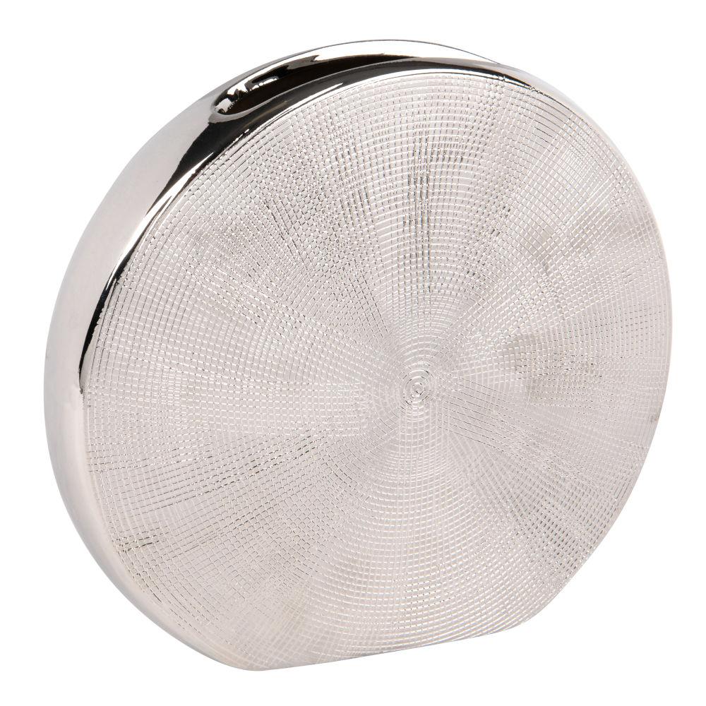 Vase Mond aus silberfarbenem Steinzeug H21
