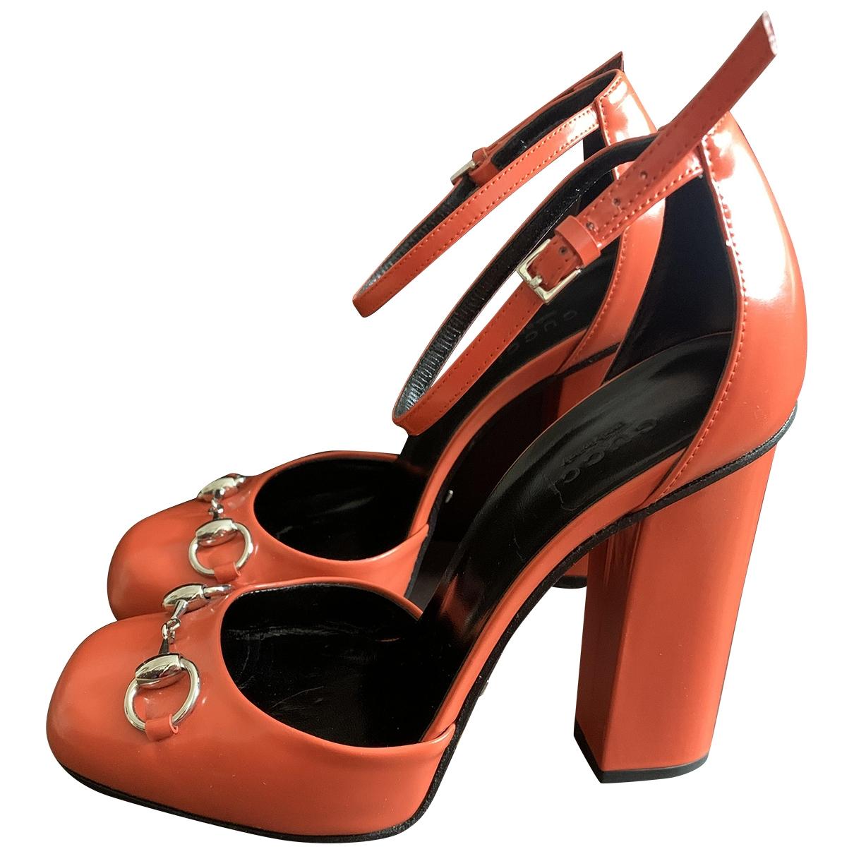 Gucci \N Orange Leather Heels for Women 37 EU