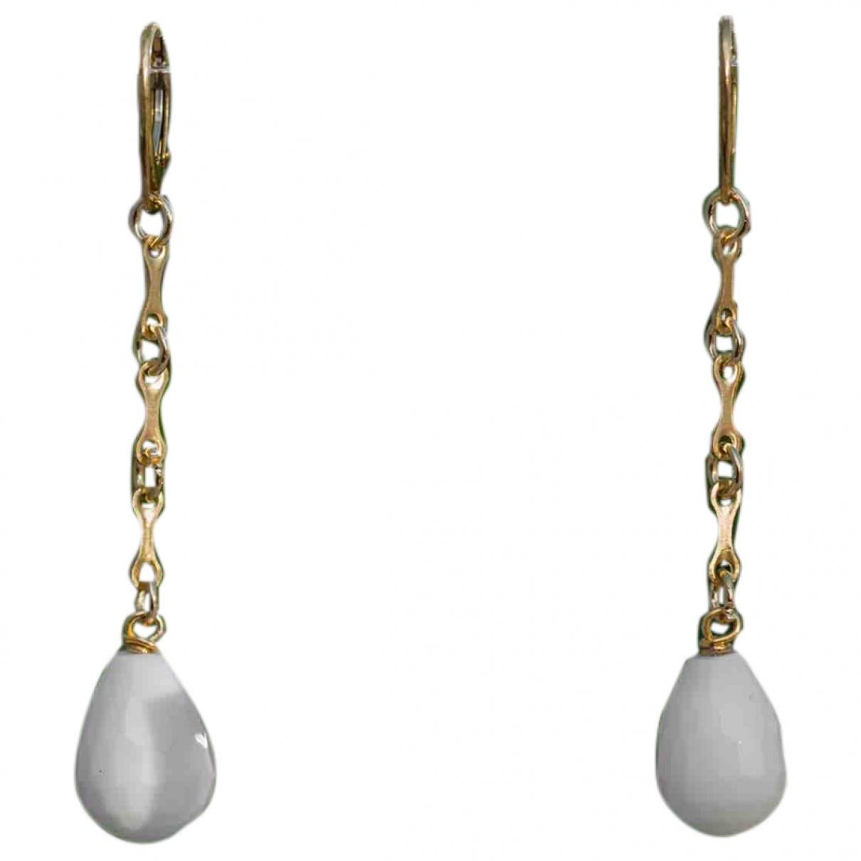 - Boucles doreilles   pour femme en metal - blanc