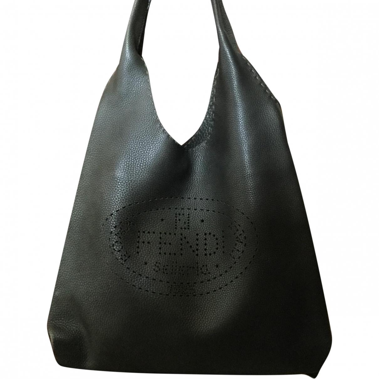Fendi \N Anthracite Leather handbag for Women \N